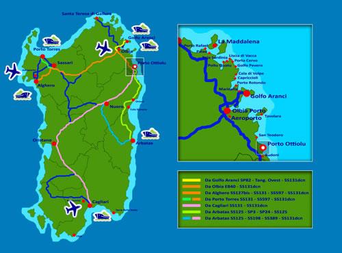 Porto Ottiolu Maps